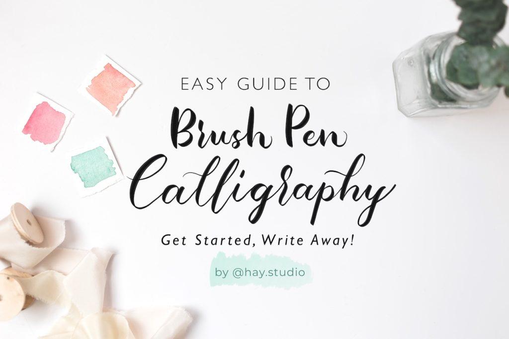 Free Course Brush Pen Modern Calligraphy Tutorial Class