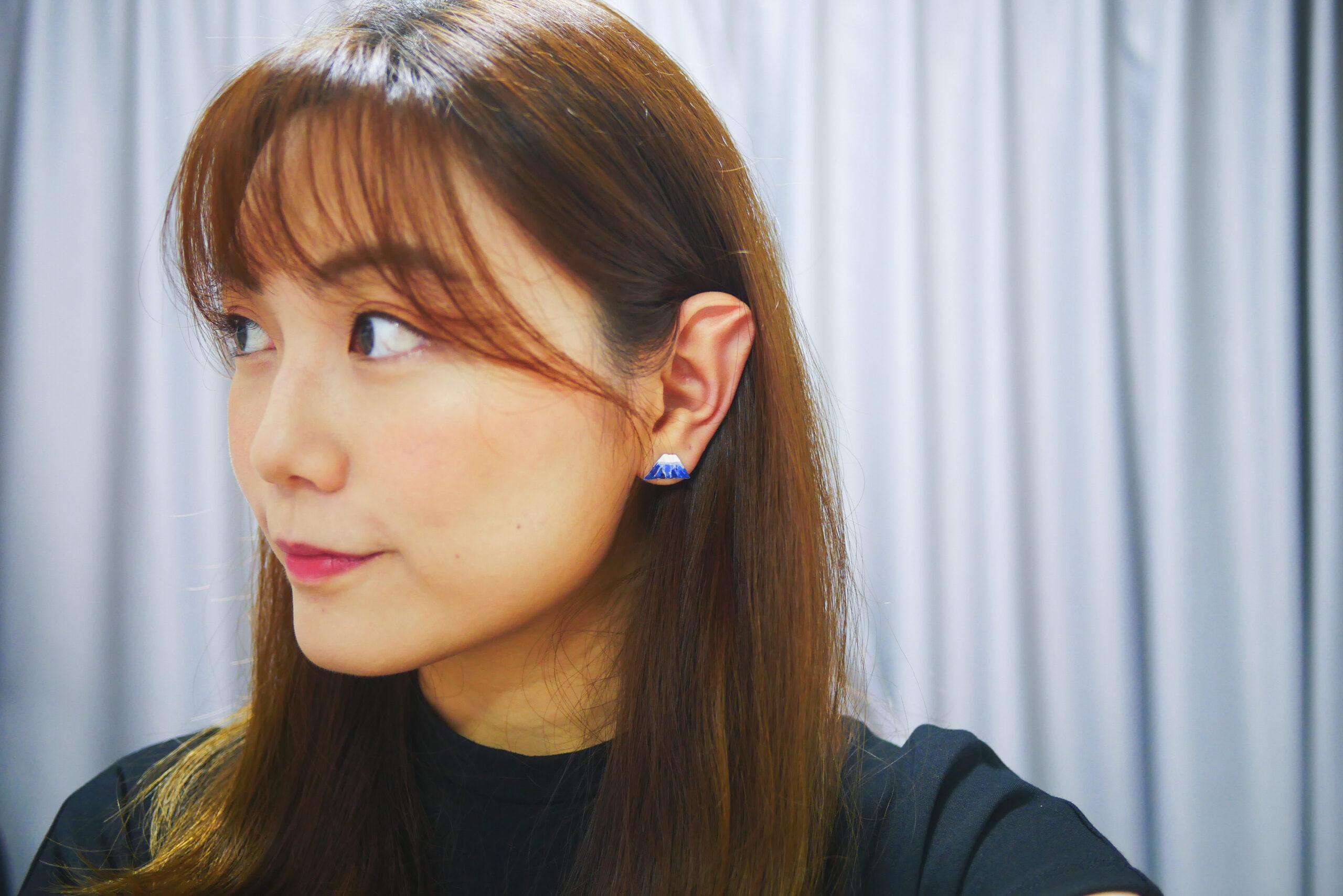 DIY clay ear studs