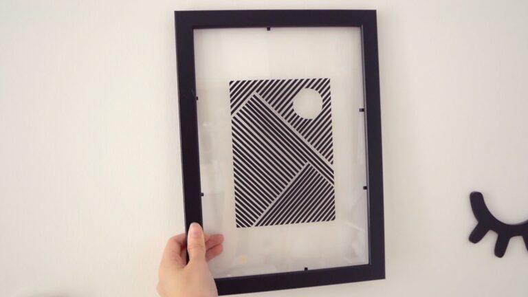 Framed washi tape line art DIY