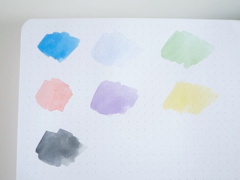 BUKE Bullet Journal Watercolour Paint Test