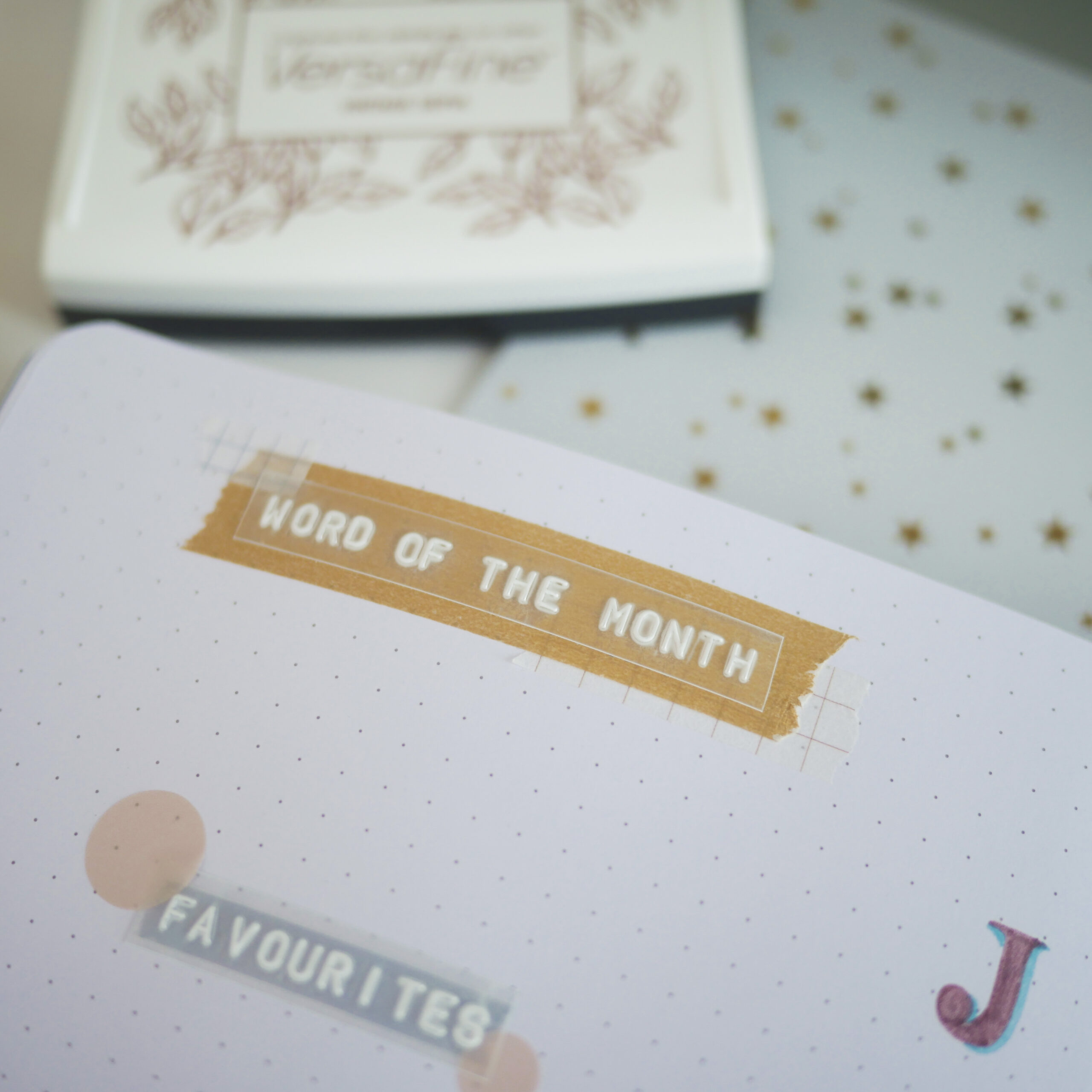 Bujo Monthly Review Ideas - Word of the Month