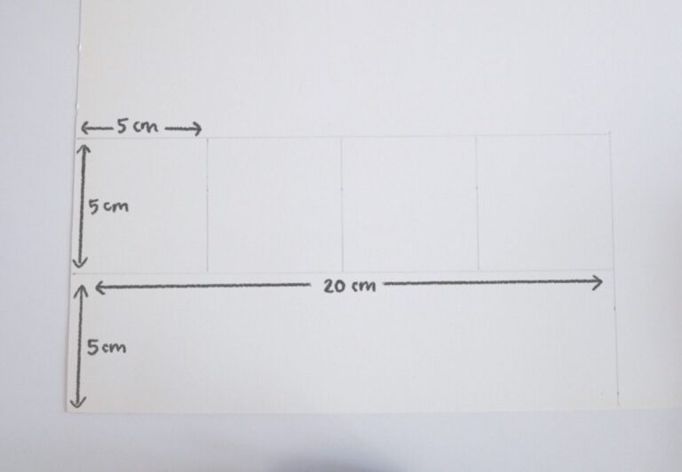 Valentine's Day Card DIY - Measurements