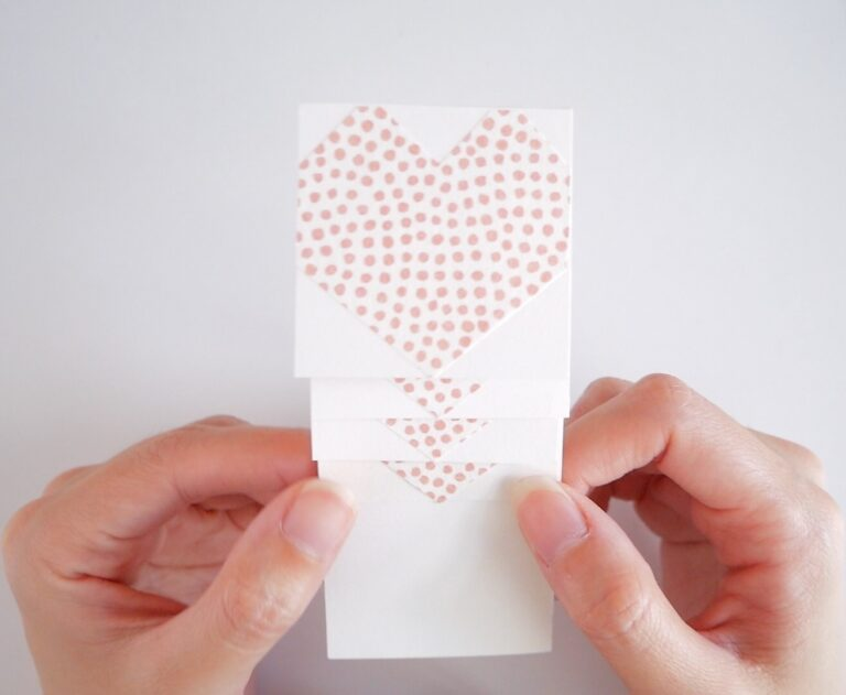 Valentine's Day Card DIY - Pasted Squares