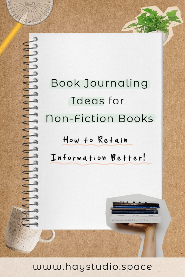 Book Journaling Ideas for Non-Fiction Books - How to Retain Information Better