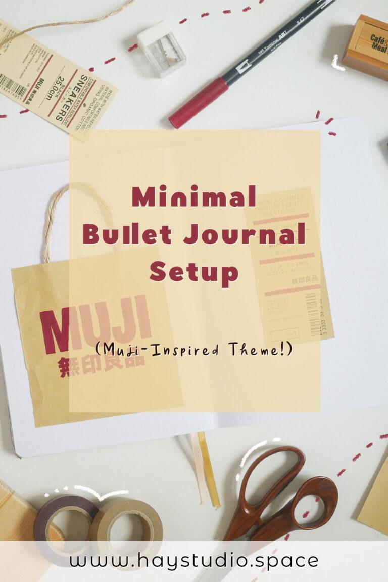 Minimal Bullet Journal Setup - MUJI Inspired Theme for March