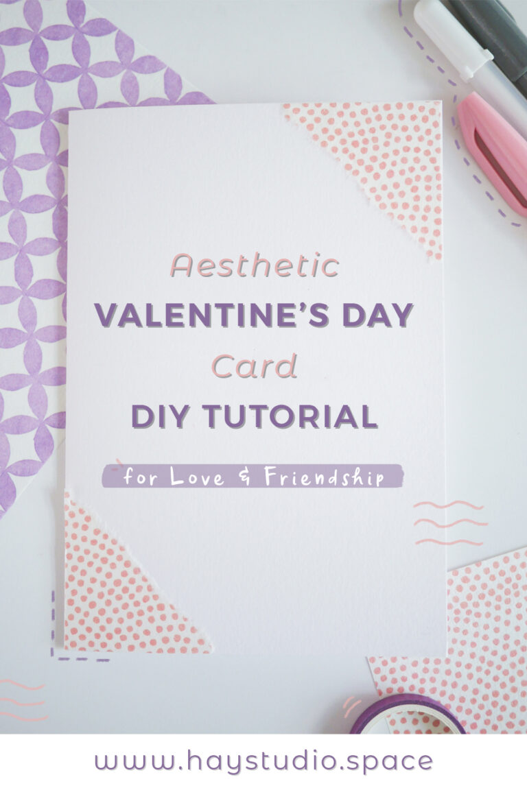 Aesthetic Valentine's Day Card DIY Tutorial for Love & Friendship