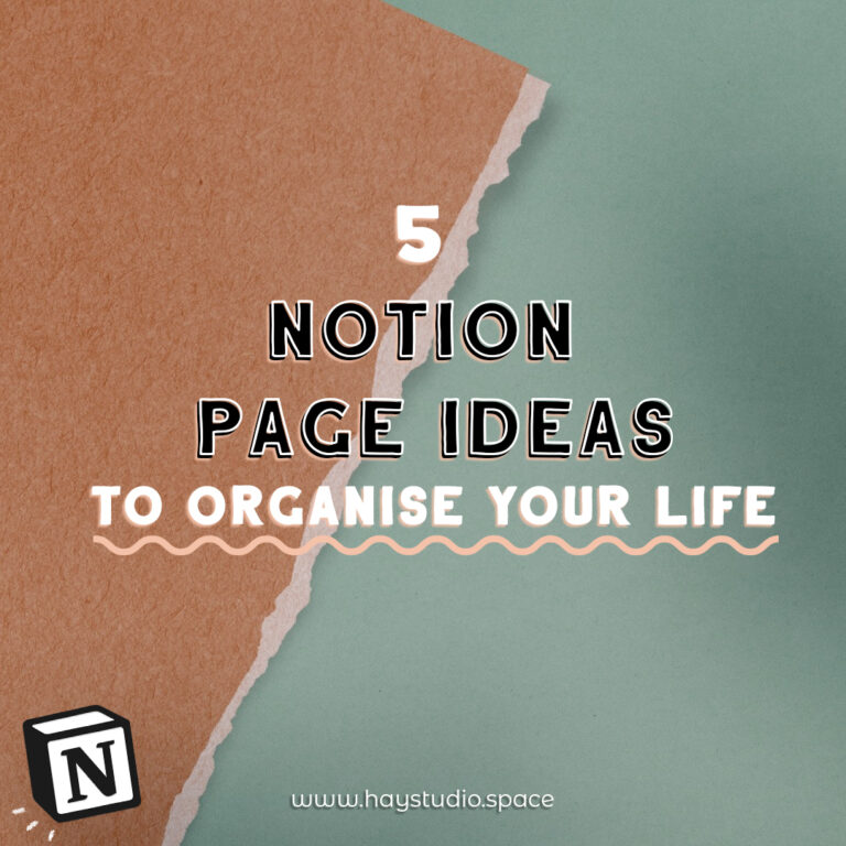5 Notion Page Ideas to Organise Your Life (Free Template!)