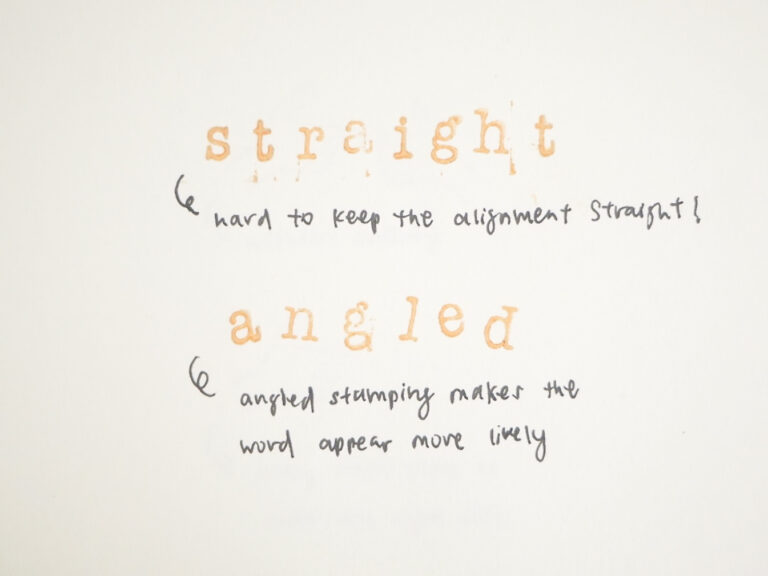 Wooden Stamp Tips 3 - Alignment