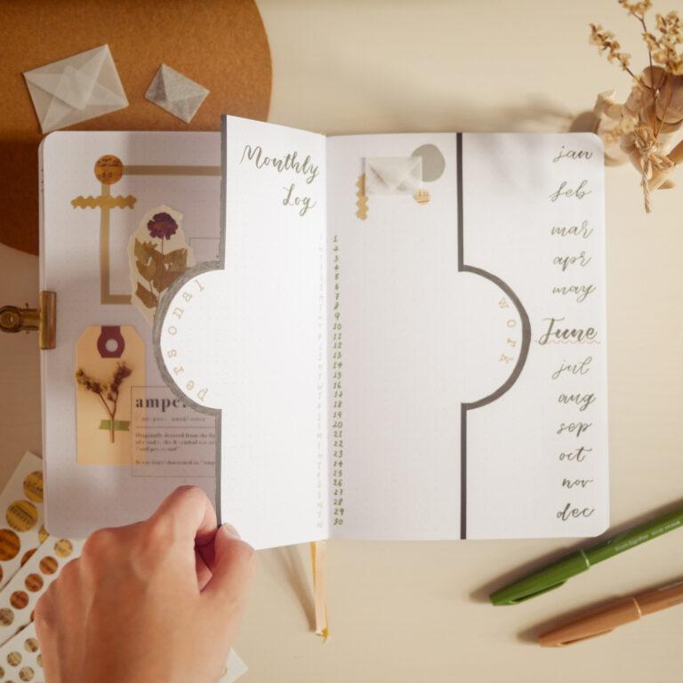 Elegant Bullet Journal Setup - Monthly Log
