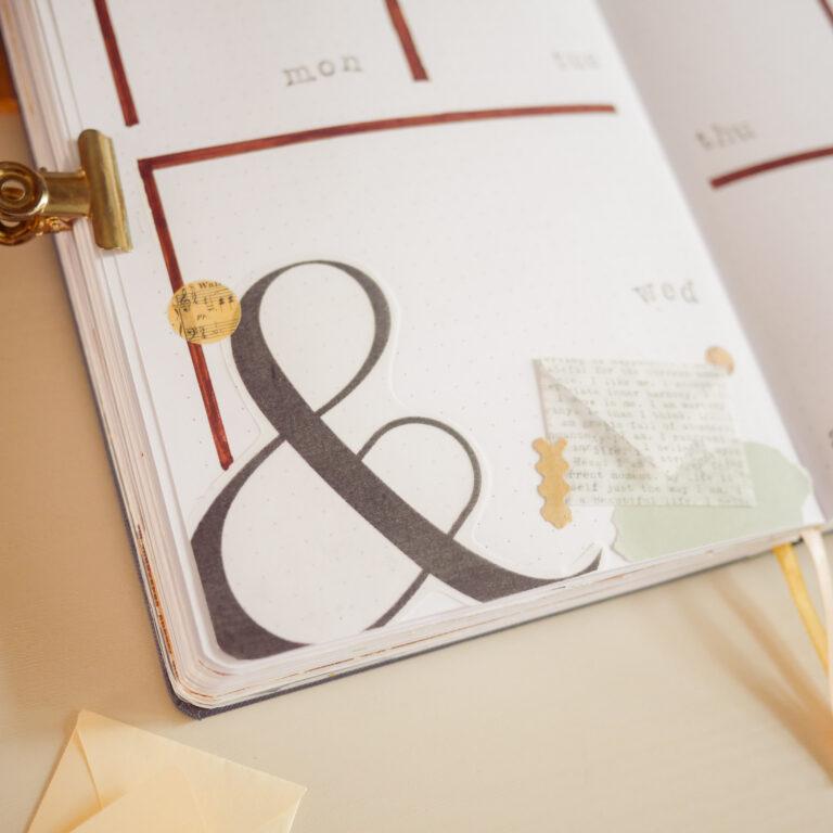 Elegant Bullet Journal Setup - Weekly Spread