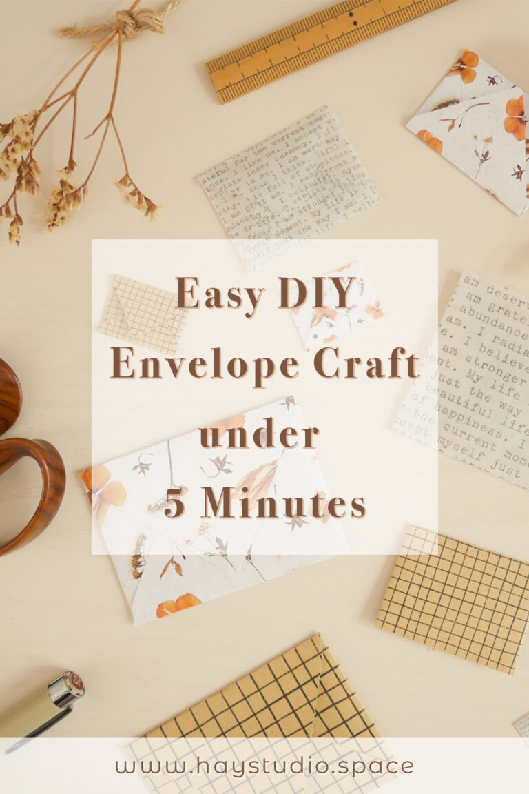 Easy DIY Envelope Craft under 5 Minutes