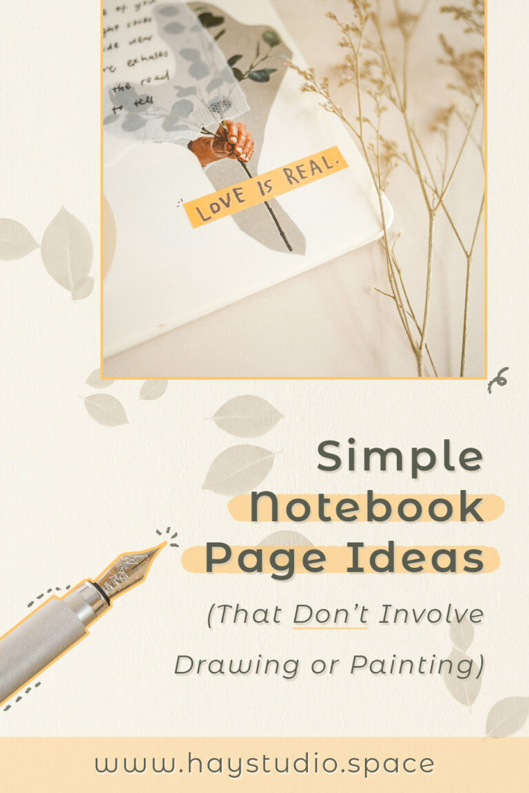 Simple Notebook Page Ideas That Don't Involve Drawing or Painting