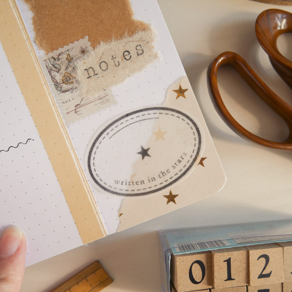 Vintage Collage Bullet Journal Setup - Weekly Dutch Door Spreads