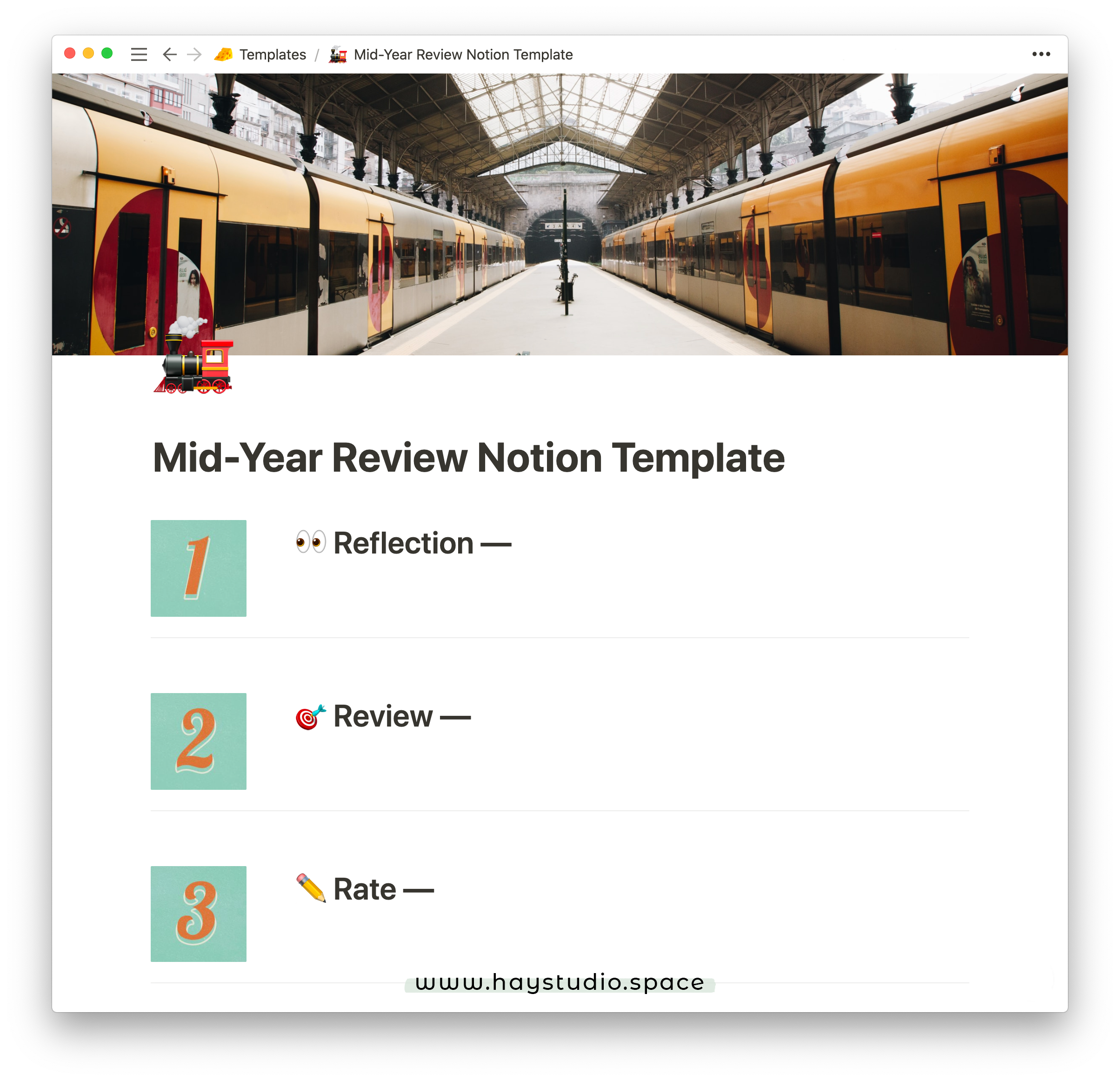 Personal Mid Year Review Notion Template